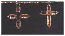 Topaz crosses given to Jane and Cassandra by their younger brother Charles, in 1801.